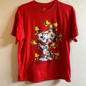 Peanuts Christmas T-shirt Snoopy🎄